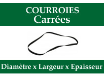 Courroies carree